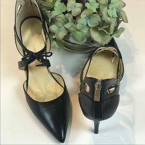 Ivanka Trump Ittenice 8 1/2 Strappy Black Heels